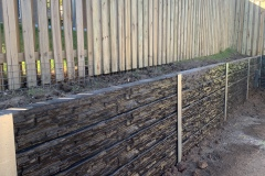 Rycan Retaining and Earthworks Concrete Sleeper Retaining Wall - Stackstone Profile