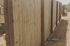 Rycan Retaining and Earthworks Treated Pine Timber Fence