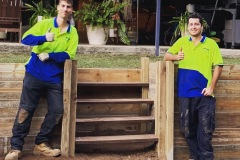 Rycan Maintenance Timber Steps in Retaining Wall